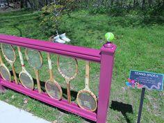 Tennis racquet fence! <3