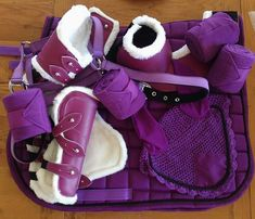 Purple Matchy set - one of my favourite colours! #equestrian #tacksets