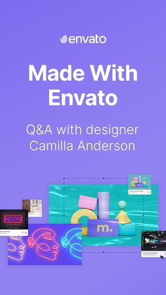 Go behind the scenes with designer Camilla Anderson and discover how she uses Envato Elements in her work