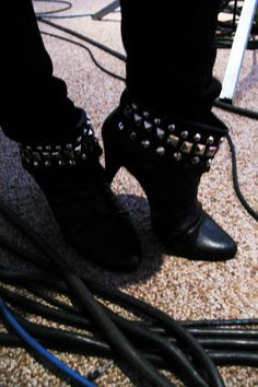 DIY studs ankle boots