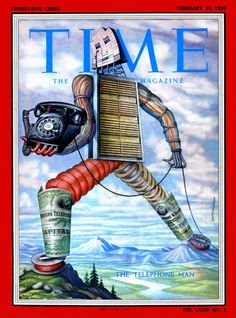 Great TIME cover from 1959. The Telephone Man.