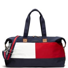 Tommy Hilfiger Signature Weekender (1,275 MXN) ❤ liked on Polyvore featuring bags, luggage and bolsa