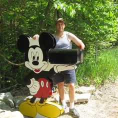 Mickey Mouse Holding Your Mailbox  I would love to see it as a classic mickey with pie eye ;)