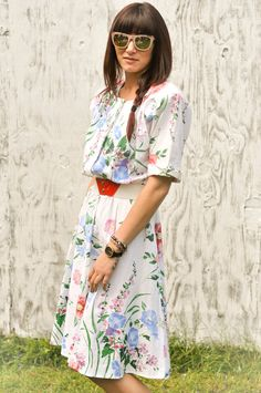 Molly: This dress could work for Florence! Floral print all the way!