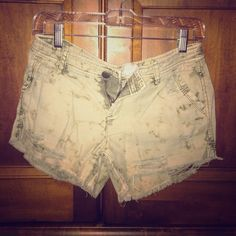 Free people distressed green shorts size 2. Distressed free people shorts size 2. Super cute on they are like new only worn a few times. Great for summer with a white t and gladiator sandals. Free People Shorts