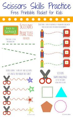 The Chirping Moms: Simple Scissors Practice for Preschoolers Scissor Practice, Cutting Practice, Scissor Skills, Cutting Activities, Preschool Activities, Motor Activities, Physical Activities, Education Quotes For Teachers, Preschool Crafts