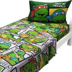 Teenage Mutant Ninja Turtles Twin Sheets Trust Ninja Bedding with Pillowcase Kids Sheets, Twin Sheets, Twin Sheet Sets, Kids Blankets, Kids Pillows, Ninja Turtle Room, Kids Comforter Sets, Kids Sleeping Bags, Kids Canopy