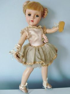 """1948 American Character Sweet Sue Ice Skater Doll 15"""" Hard Plastic Early Face in Dolls & Bears, Dolls, By Brand, Company, Character   eBay"""