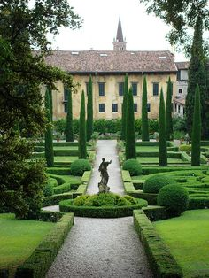 Fantasy Fantastical Ancient Boxwood Garden, Verona, Italy -
