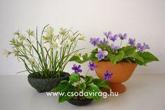 Clay flower - Colors, shapes and sizes ... Agyagvirág - Színek, formák, méretek... Clay Flowers, Planter Pots