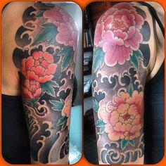 #牡丹 #波  #刺青 #tattoo #彫斗斎 by horitosai https://instagram.com/p/3AXQA4E5D4/
