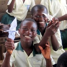 Folding Japanese paper birds with students in Ghana! Click for the full, joyful article, and more photos.