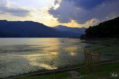 Sunset in #Phewa_Lake #Pokhara