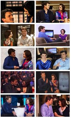 Nathan Fillion and Stana Katic. The way they interview together, and just the way they look at one another. Seriously.
