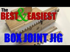 Woodworking: How to make the BEST and EASIEST box joint / finger joint jig. FREE plans! - YouTube