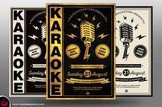 Karaoke Flyer Template V3 by Thats-Design.deviantart.com on @DeviantArt