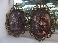 Pair of Vintage Italian Floral Pictures / by PaulasVintageAttic, $14.99 #vintage #vintage pictures frames #vintage italian art