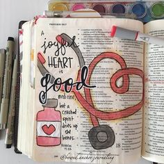 Proverbs 17:22 ESV A joyful heart is good medicine but a crushed spirit dries up the bones. #biblejournaling #esvbiblejournal #journalingbible #bibleverse #illustratedfaith #illustratedfaithdaily2016 #illustratedfaith2016 #biblejournalingcommunity #soulscripts #GodsWord #dailyScripture  #watercolors #pinterestinspired http://ift.tt/1KAavV3