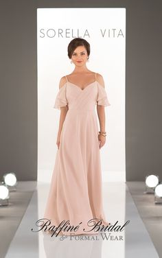 1234d60e8a37 Bridesmaid Dresses Soft romantic and perfectly-boho this ruched chiffon gown  with a criss-cross V-neck from Sorella Vita is ideal for your laid back ...