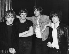 REM in 1983, from left, Michael Stipe, Mike Mills, Peter Buck, and Bill Berry.