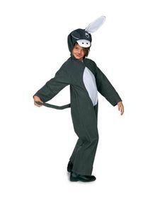 Peculiar Disfraz de Mula para Niños, Mono de terciopelo con cremallera delantera…