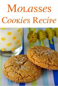 Molasses Cookies Recipe! {yummy sweetness with the perfect bit of spice!} #cookie #recipes