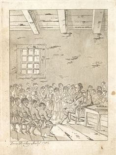 Engraving from book, Claus, Daniel. A primer for the use of the Mohawk children [...]. London: C. Buckton, 1786. PM 1882 C5 1786. Frontispiece.