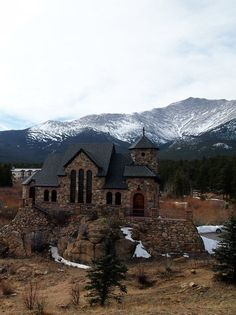 Little church in the Colorado Rockies.