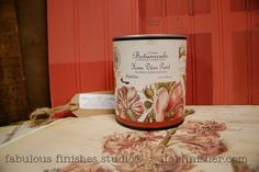 DAHLIA - an orangey red - New botanical paints by Caromal Colours - chalk paint on steroids! Adheres to nearly any surface, covers amazing, little to no brush marks, does not require a wax or topcoat.  Fully stocked, in store (Metro Detroit) and online shop.fabfinisher.com