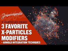 3 Favorite X-Particles Modifiers + Arnold Integration Technique - YouTube