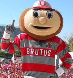 The Ohio State University Buckeyes mascot, Brutus. Ohio State Mascot, Ohio State Basketball, Buckeyes Football, Florida State University, Florida State Seminoles, Ohio State Buckeyes, Buckeye Sports, Oklahoma Sooners, Alabama Football
