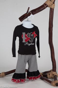 I Love Alabama Applique Shirt with matching Ruffle Pants. $65.00, via Etsy.