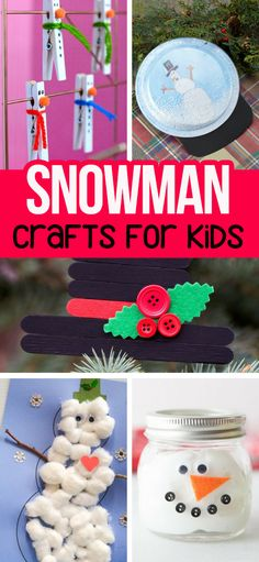Snowman Crafts for Kids plus over 50+ Christmas Crafts for Kids #christmas #christmascrafts #kidscrafts #snowman