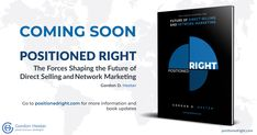 """I am very excited to announce that my book Positioned Right will be released at the end of February! I think it is important to start embracing people from the industry to develop new ways of thinking and operating. The Historical Path built on the """"But we've always done it that way"""" mentality has for sure past! I hope my Book is going to provide useful insights and advice to the people from the industry. Challenges And Opportunities, Business Opportunities, Direct Marketing, Very Excited, Got Books, That Way, Things To Think About, Leadership, Insight"""