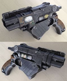 Nerf Vortex Proton Fallout Vault-Tec blaster pistol with integrated PIP-Boy.