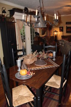 primitive table setting - Primitive Kitchen Tables