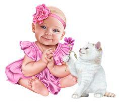 "Photo from album ""Laguna on Yandex. Cartoon Girl Images, Baby Cartoon, Cartoon Art, Baby Clip Art, Baby Art, Animals For Kids, Baby Animals, Blue Nose Friends, Baby Shower Niño"