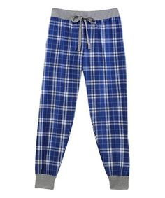 Love this Royal & Silver Plaid Tailgate Joggers - Plus Too on #zulily! #zulilyfinds