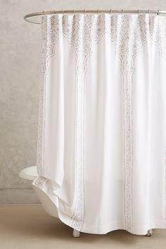 John Robshaw Claridge Shower Curtain Neutral Motif One Size Shower Curtains