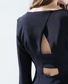 Dress with zip at the shoulder -Zara