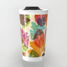 Autumn leaves Travel Mug By Fimbis | Society6  #leaves #autumn #art #coffee #travel #explore #fashion #fall