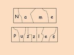 Jigsaw Puzzles For Kids, Wooden Puzzles, Wooden Toys, Wooden Letters, Puzzle Logo, Name Puzzle, Name Activities Preschool, Kindergarten Literacy, Playroom Quotes