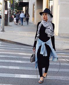Hijab + Chambray + B