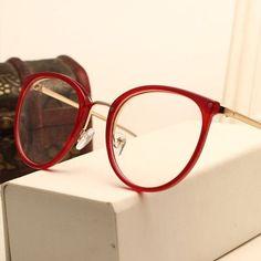 3762e99658 Vintage Decoration Optical Eyeglasses Frame myopia round metal men women  unisex spectacles eye glasses Lenses