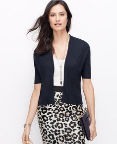 Primary Image of Cashmere Short Sleeve Open Cardigan