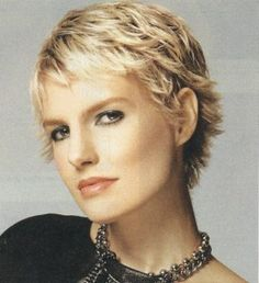 Cute Blonde Short Length Shag Haircut Picture