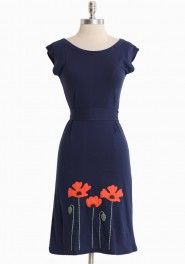 Not cheap, but pretty ethical women's clothes  poppies blooming dress by Synergy