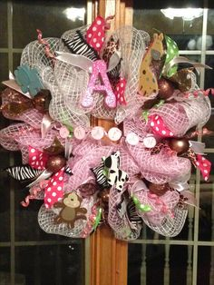 Nate and Saffire's Jungle Theme Baby Wreath-2016