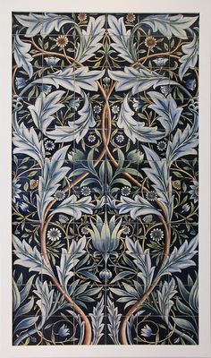 24 New Ideas Art Nouveau Design Pattern Illustration William Morris Art Nouveau, William Morris Art, Motifs Textiles, Tile Panels, Art Japonais, Pre Raphaelite, Motif Floral, Victoria And Albert Museum, Arts And Crafts Movement