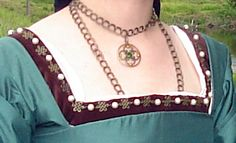 Tudor dress neckline
